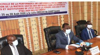 Togo : des acteurs interministériels évaluent la performance des réformes à fin décembre 2019