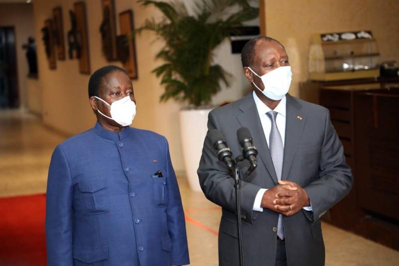 Le Président Alassane Ouattara rencontre Konan Bédié