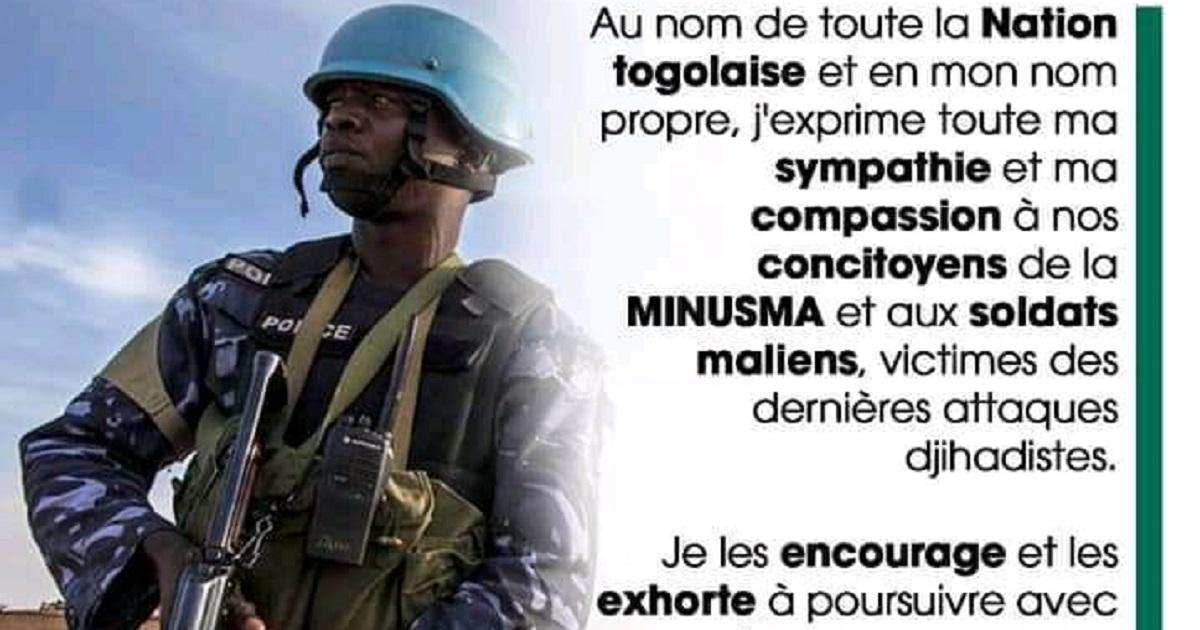 Attaques des togolais de la Minusma: la compassion de Faure Gnassingbé aux soldats togolais blessés