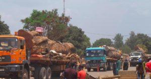 la capitale centrafricaine désormais accessible aux camions de marchandises