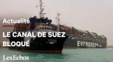 Egypte : le canal de Suez bloqué par un navire géant
